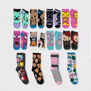 Ladie's Marvel 12 Days Of Socks Shoe Sz 4-10